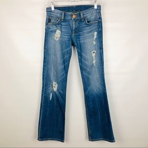 ARMANI | Bootcut Blue Distressed 👀 Jeans
